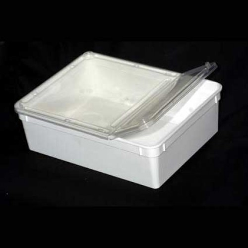 Hinged Lid Stackable Reptile Box Large 247x188x75mm