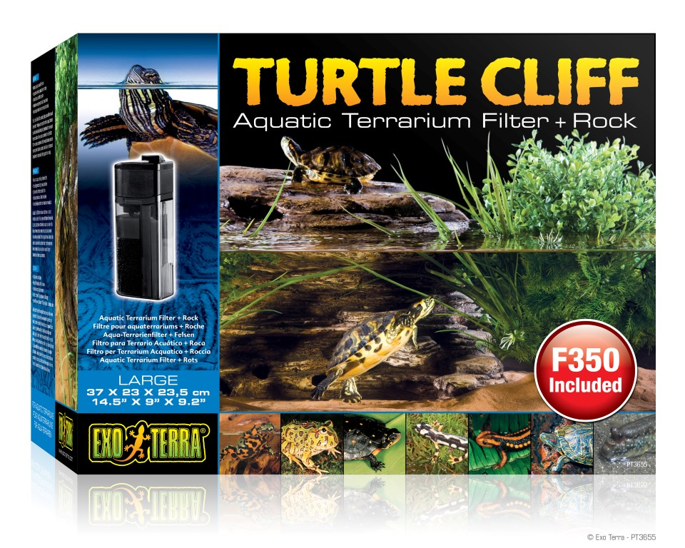 Exo Terra Turtle Cliff / Aquatic Terrarium Filter + Rock Large