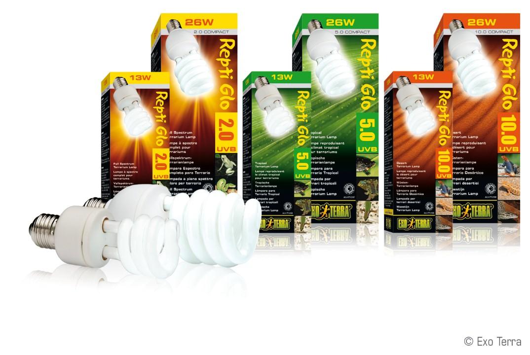 Exo Terra Reptile Uvb 100 Compact Lamp 25w Livefood Uk Ltd